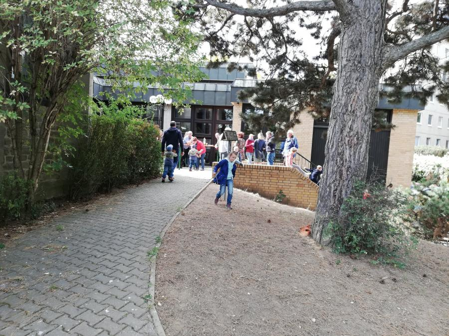 Hof des Gemeindezentrums